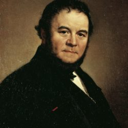 Portrait of Stendhal, pseudonym of Marie-Henri Beyle (Grenoble, 1783-1842), French writer, Painted in 1840 by Johan Olof Sodermark